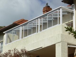 Alpro aluminium namibia for Balcony surrounds